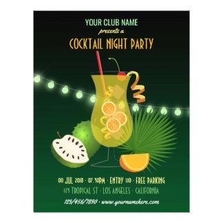 Flyer Clube/convite de festas incorporado da noite do