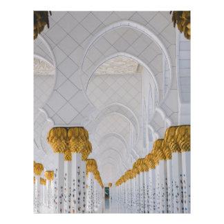 Flyer Colunas do Sheikh Zayed Grande Mesquita, Abu Dhabi