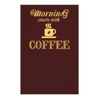 Flyer Começos da manhã com café