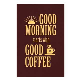 Flyer Começos do bom dia com bom café
