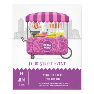 Flyer Comida do indiano da rua da comida
