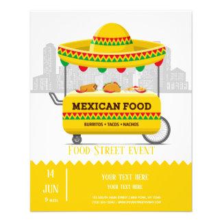 Flyer Comida do mexicano da rua da comida