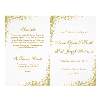 Flyer Confetes do ouro & programa dobrado brilho