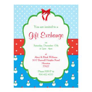 Flyer Convite da troca do presente do Natal