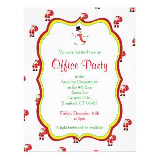 Flyer Convite de festas do escritório do Natal