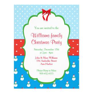 Flyer Convites da festa de Natal