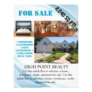 Flyer Corretor de imóveis moderno dos bens imobiliários