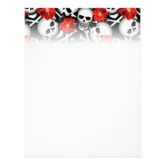 Flyer Crânios e flores