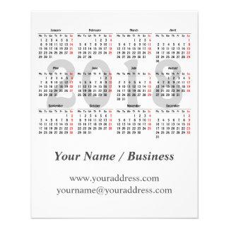 Flyer Criar seu próprio calendário 2018
