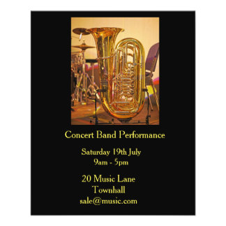 Flyer Desempenho da música de banda filarmónica da banda