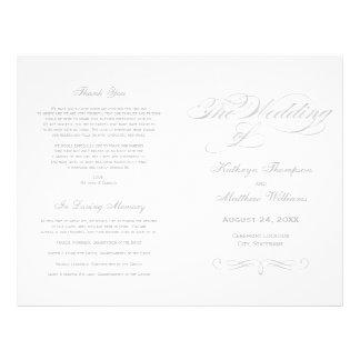 Flyer Design de prata da caligrafia dos programas   do