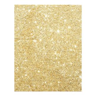 Flyer Diamante dourado do brilho