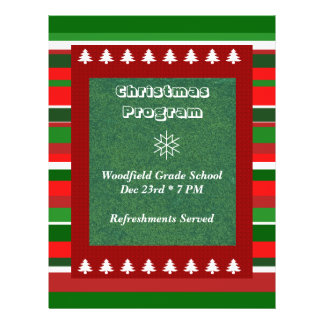 Flyer Evento customizável: Programa do Natal