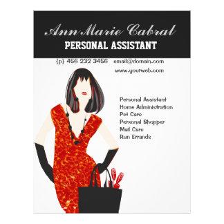 Flyer Fashionista do assistente pessoal da mulher