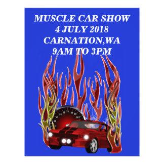Flyer Feira automóvel do músculo