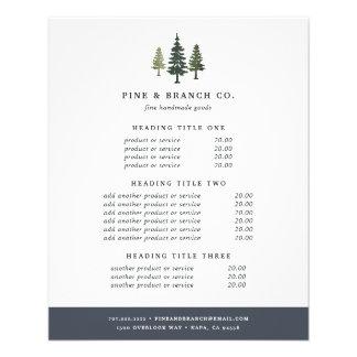 Flyer Fixação do preço & serviços altos dos pinhos
