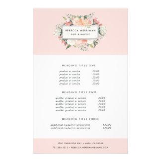 Flyer Fixação do preço & serviços florais antigos
