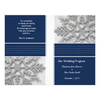 Flyer Flocos de neve de prata que Wedding insectos do