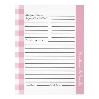 Flyer Folhas cor-de-rosa e brancas da receita da xadrez