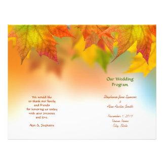 Flyer Folhas de insectos do programa do casamento do