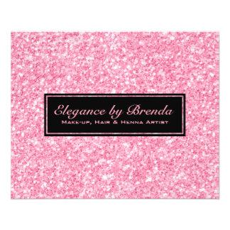 Flyer Formas geométricas do preto cor-de-rosa do brilho