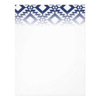Flyer Geométrico azul e branco tribal