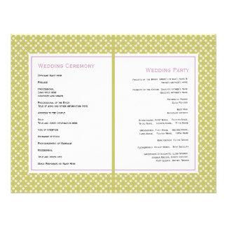 Flyer Glicínias roxas, programa verde do casamento do