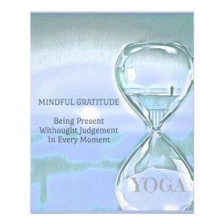 Flyer Gratitude de acalmação azul Pastel da ampulheta da