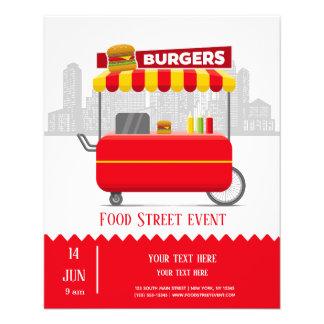 Flyer Hamburger dos hamburgueres da rua da comida