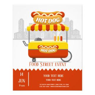 Flyer Hotdog da rua da comida