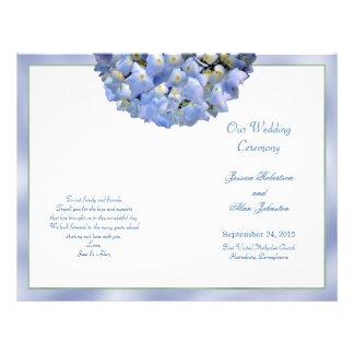 Flyer Hydrangea alfa modelo Wedding dobrado do programa