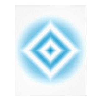 Flyer inclinação azul do diamante do Personalizar-céu