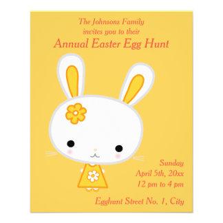 Flyer Insecto amarelo dos convites da caça do ovo da