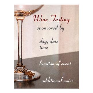 Flyer Insecto da degustação de vinhos