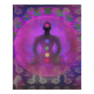 Flyer Insecto da ioga da meditação