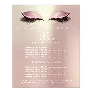 Flyer Insecto do brilho do ouro do rosa do salão de
