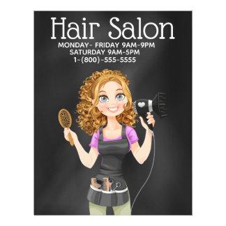 Flyer Insecto do promocional do cabeleireiro do quadro