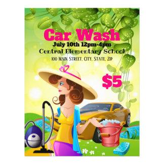 Flyer Insecto do promocional do lavagem de carros