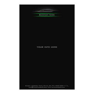 Flyer Insecto iluminado da Linha Verde do carro silhueta
