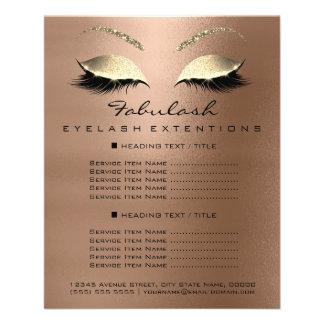 Flyer Insecto Lux1 magro do brilho do ouro do salão de