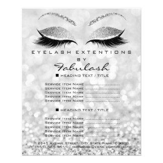 Flyer Insecto Silver1 do brilho do salão de beleza do