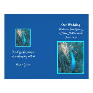 Flyer Insectos azuis brilhantes do programa do casamento