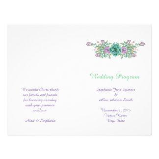 Flyer Insectos florais do programa do casamento do
