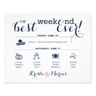 Flyer Itinerário do fim de semana do casamento