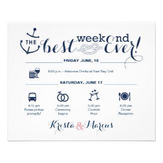 Flyer Itinerário náutico 2 do fim de semana do casamento