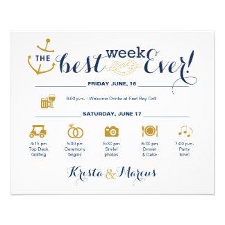 Flyer Itinerário náutico da semana do casamento