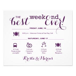 Flyer Itinerário náutico do fim de semana do casamento