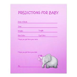 Flyer Jogo das previsões do chá do bebé do elefante