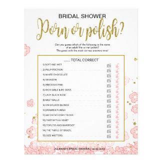 Flyer Jogo floral do rosa disponível polonês da noite