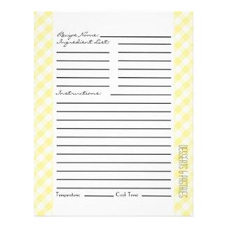 Flyer Listras e verificações amarelas e verdes